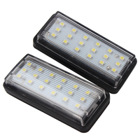 12V For Toyota Land Cruiser Prado Reiz Mark X 2pcs Number Plate Lamp SMD3528 LED Car