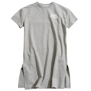 Image 5 - High Quality Cotton t shirt for girls Long Baby Shirts New 2020 Summer Leisure Children T shirt Dress Mommy and Me Dress, #2894