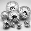 6 Pcs Silver mirror glass marble ball disco ball,flash glass christmas ball,8CM,Party decoration ,wedding decoratino ball