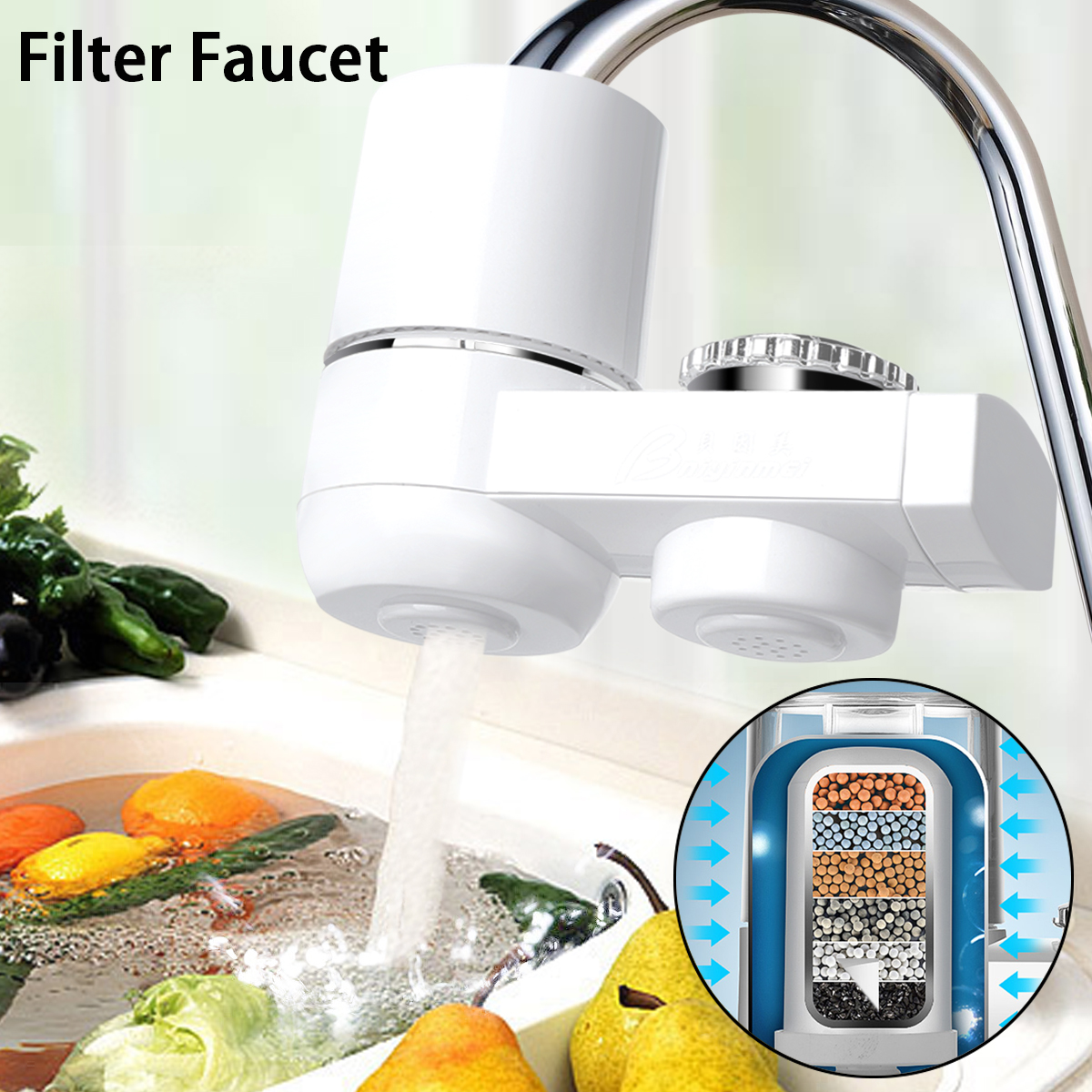 High Quality Water Filter for Household Kitchen Health Activated Carbon Tap Faucet water filter Purifier For Drinking filtro цена