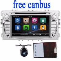 2Din IÇIN Dash Car DVD Player 7 Inç FORD Mondeo Odak araba 2 din araba radyo GPS Navigasyon AM/FM ile Direksiyon Simidi-ücretsiz kamera