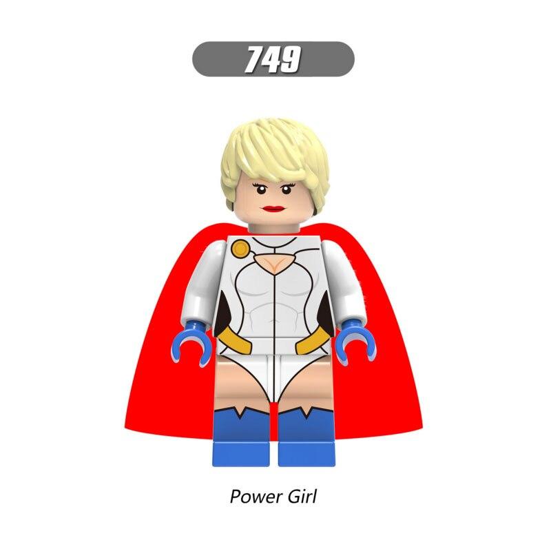 Single Sale Super Heroes Star Wars 749 Power Girl Model Mini Building Blocks Figure Bricks Toys Gifts Compatible Legoed Ninjaed