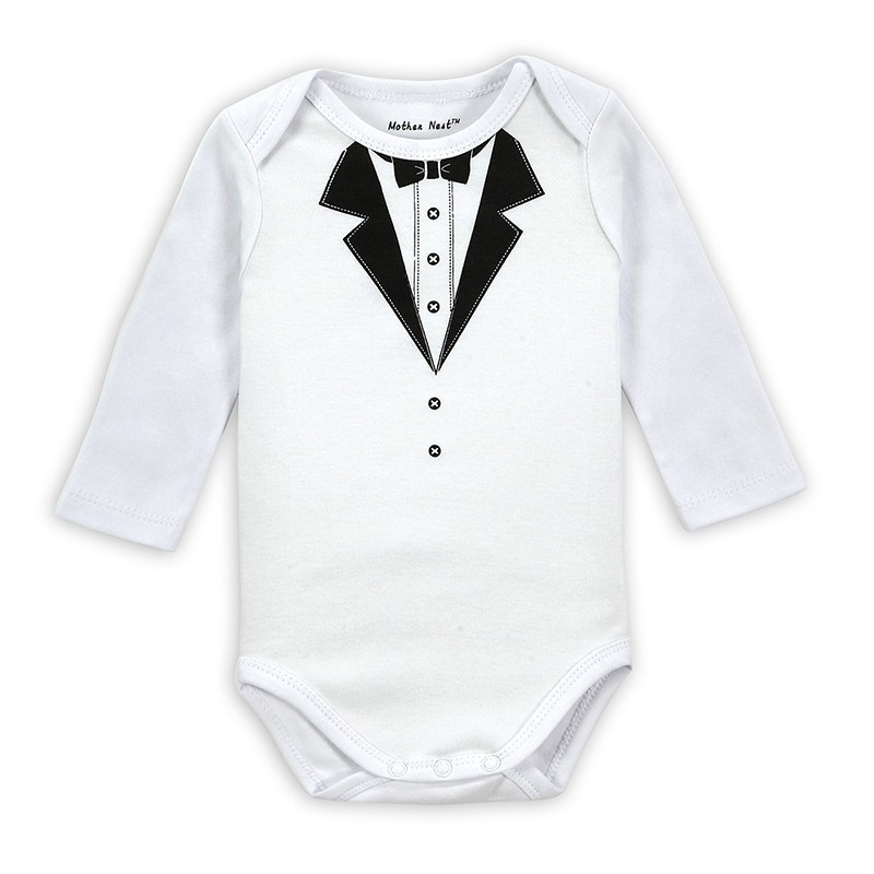 2PICSLOT Gentleman Long Sleeve Baby Boy Bodysuits Baby Boys Girls Clothes Spring Summer Children Jumpsuit Newborn Infant Body