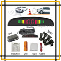 Парковка Система с 4 Сигнализация датчик парковки и стоянки СВЕТОДИОДНЫЙ Дисплей для всех автомобилей, Автомобиля Система помощи при Парковке с 4 датчики