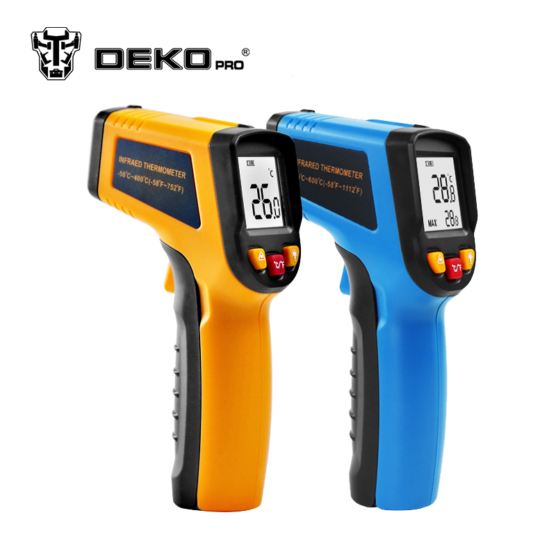 DEKOPRO WD01 Non-Contact Laser LCD Display IR Infrared Digital C/F Selection Surface Temperature Thermometer Pyrometer Imager ht 6885 non contact high temperature infrared thermometer backlight lcd display