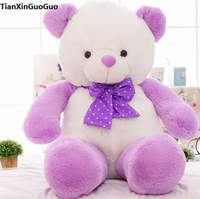light purple teddy bear plush toy large 60cm bear doll soft throw pillow toy Christmas gift b2799 60cm large tyrannosaurus doll dinosaur plush toy sleeping pillow doll
