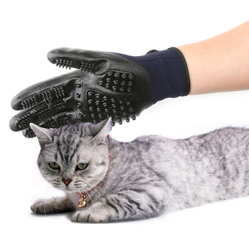 1 Pair Pet Grooming Gloves Dog Cat Hair Cleaning Brush Comb Black Rubber Five Fingers Deshedding Pet Glove For Dog Cat Dropship 1