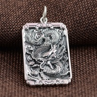 Wholesale 999 Silver Pendant Silver process antique style personality new dragon totem