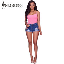 Sexy Club Denim Shorts Embroidery Hole Short Jeans 2017 Summer Ripped Womens Straight Blue Shorts Mujer