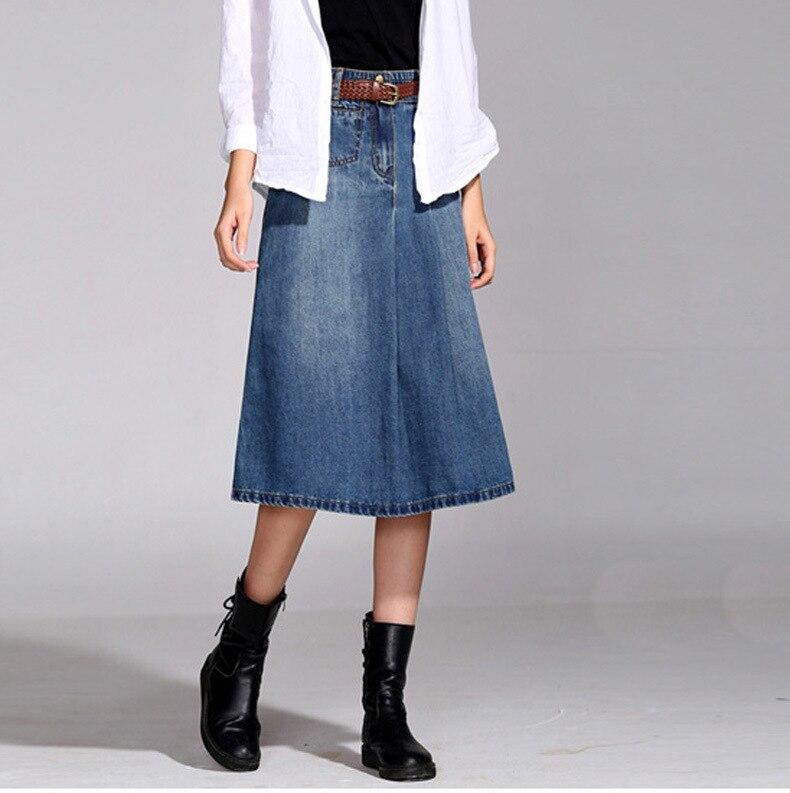 Plus Size Womens Denim Skirts - Skirts