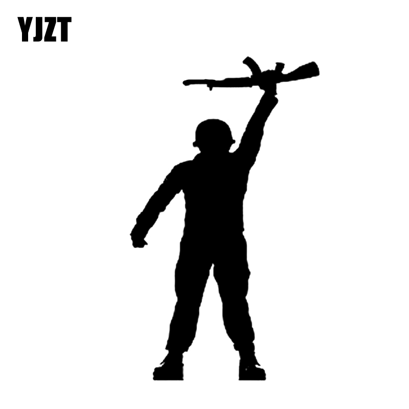 Punctual Yjzt 9.2*17.1cm Coolest Soldier Gun Car Sticker Decoration Graphic Vinyl Black/silver C12-0344 Car Stickers