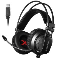 Gaming Headset 7.1 Sound Over ear Headphone Earphone USB with Microphone Bass Stereo Laptop Computer Brand Xiberia V10U