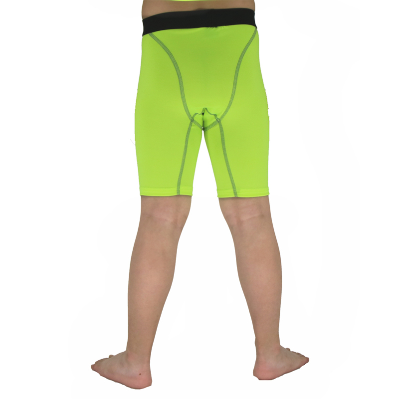 Kids Fitness Shorts High Elasticity Compression Bodybuilding Tights Sweat Wicking Quick Dry Breathable Board Shorts F50
