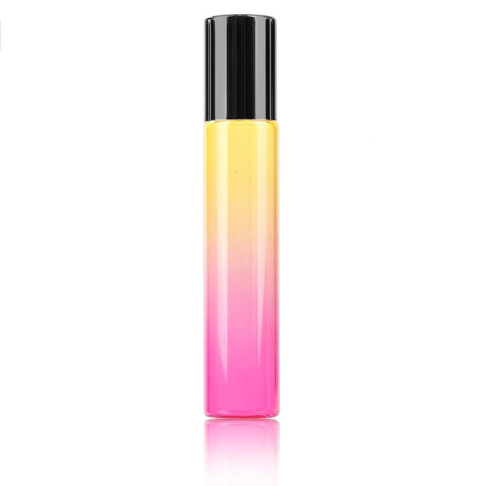10 мл градиентный цвет эфирное масло флакон духов ролик Толстый Стеклянный рулон прочный для путешествий косметический контейнер - Цвет: 05