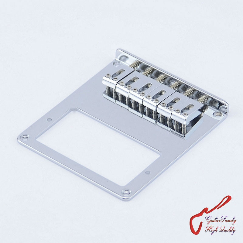 1 Set GuitarFamily  Humbucker Pickup  Fixed Electric Guitar Bridge  Chrome   ( #0459 ) MADE IN KOREA 1 set guitarfamily alnico pickup for casino jazz guitar nickel cover made in korea