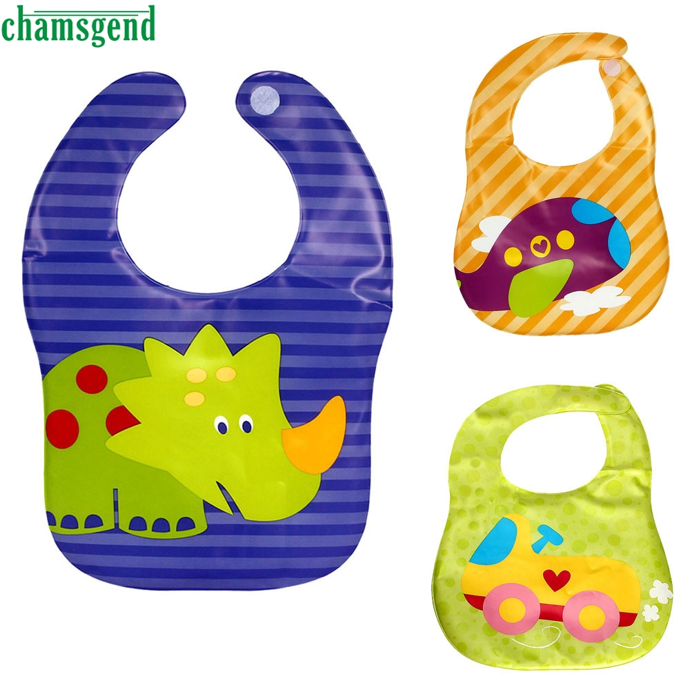 CHAMSGEND Kids Child Translucent Plastic Soft Baby Waterproof Bibs EVA drop shipping p30 MAY17