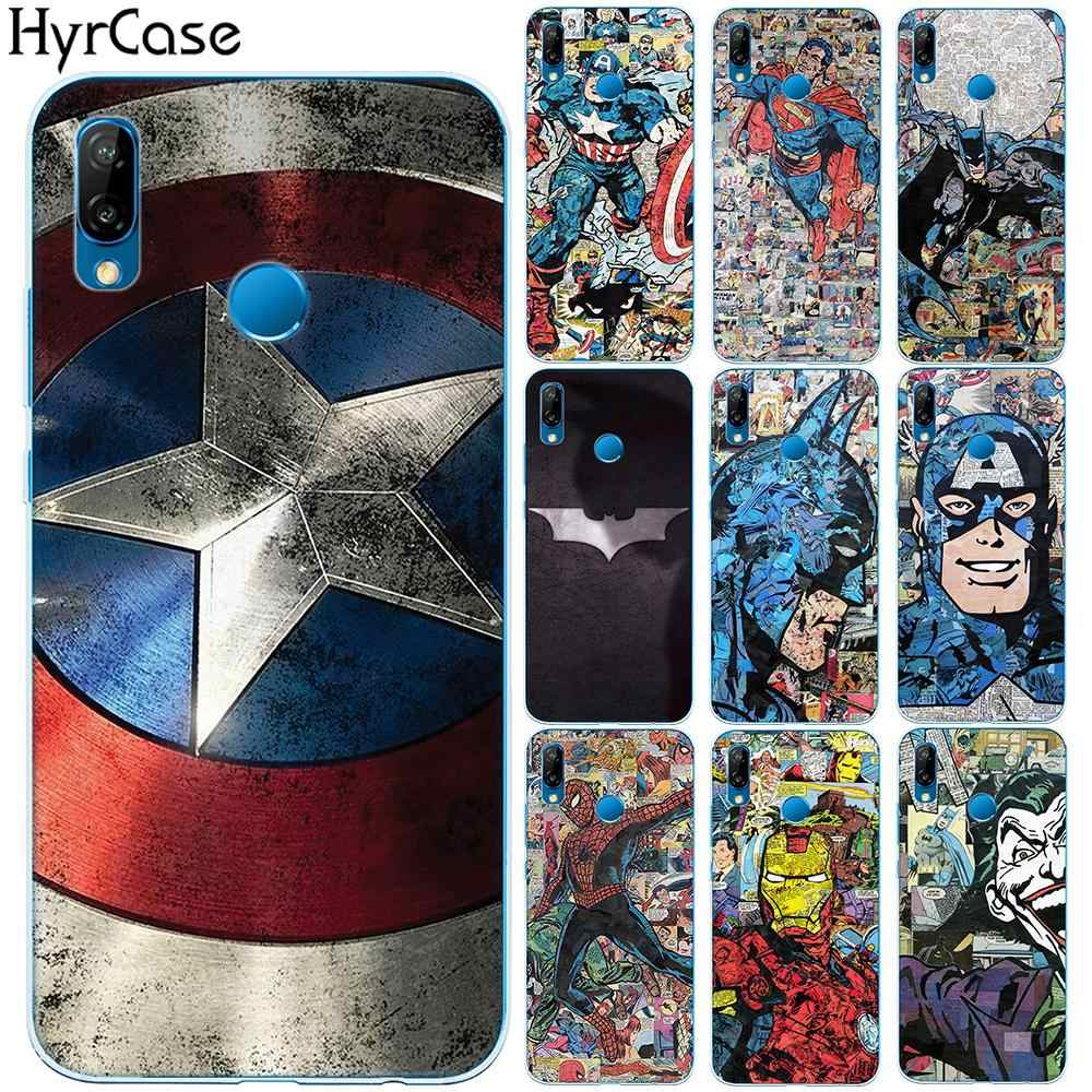 Super Heros TPU Case Cover For Huawei P8 P9 P10 P20 Lite Plus Mate 10 20 Pro P Smart Y3 Y7 2017 Y6 Y9 2018 Honor 9 Lite 10 7X 7A