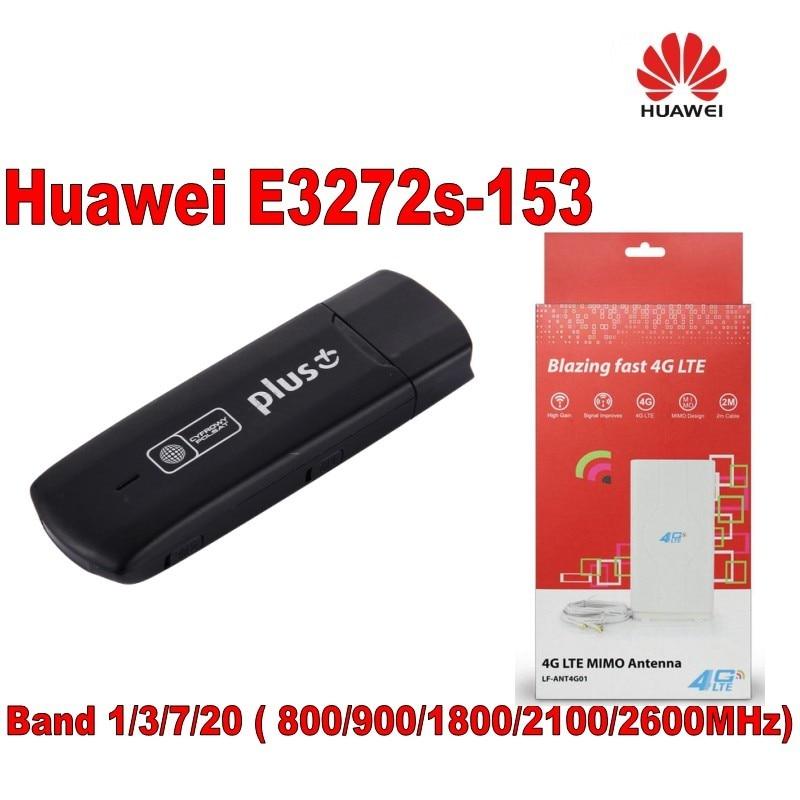 Huawei E3272s-153 High Speed 4G HiLink Modem USB Dongle+High gain 49dbi LTE 4G crc9 External 4G Antenna unlock 4g universal modem usb dongle huawei e3272s 153 lte 4g usb modem plus 2pcs antenna