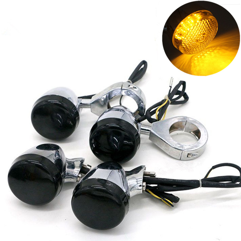 4x Motorcycle LED Turn Signal Light+39mm/41mm Fork Clamp Bracket For Harley Sportster Dyna Softail Honda Shadow VTX Cafe Racer все цены