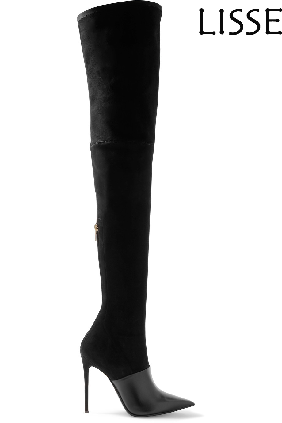 Women Pointed Toe Thigh High Over the Knee Boots Faux Suede Stretch Stiletto Handmade Wholesale Big Size 13 14 15