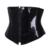 Moda PVC Cremallera Cintura Trainer Corsés Top Negro Fantasía Bondage Steampunk Bustiers Boned Lace Up de Underbust Plus Tamaño S-2XL