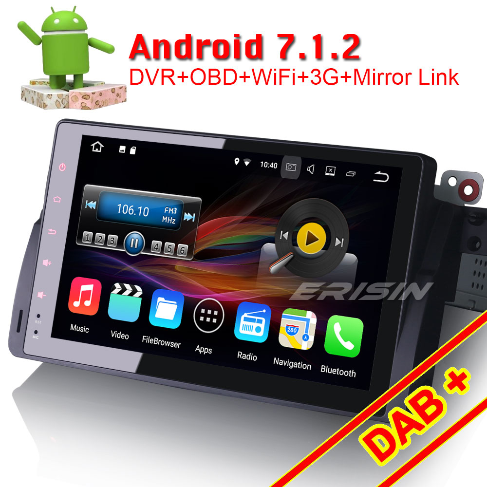 erisin es4796b 9 android 7 1 car dvd gps navigator 3g obd. Black Bedroom Furniture Sets. Home Design Ideas