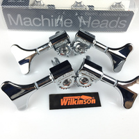 NEW wilkinson Electric Bass Guitar Machine Heads Tuners Guitar Tuning Pegs Open Gear WJB 750 Chrome Silver ( without packaging )