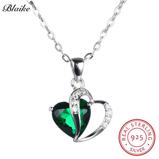 Emerald Green Zircon Pendants Necklaces