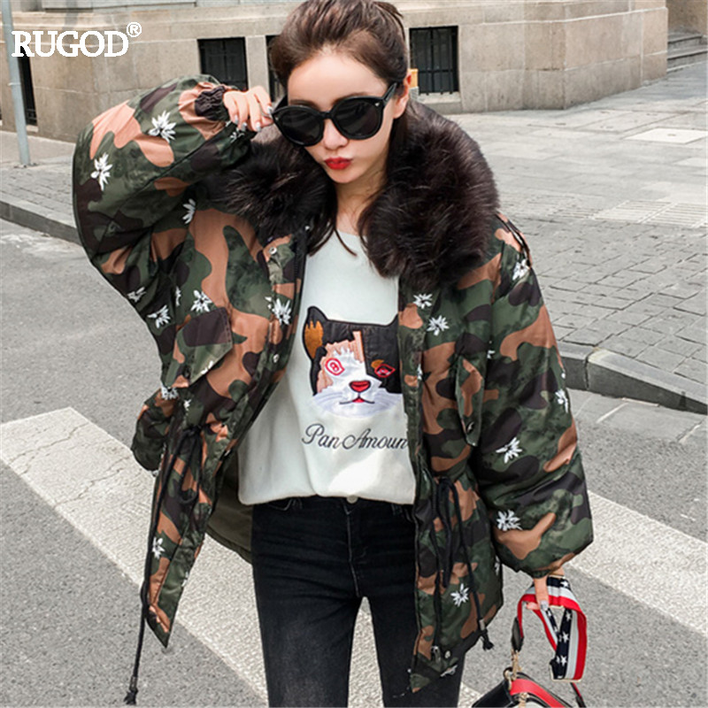 Rugod 2017 Autumn Winter Jacket Women warm Bomber Femme Korean Style Cotton Padded Basic Coat Female Tunic Jacket Parka Outwear kuyomens 2017 women winter jacket coat cotton hooded thick warm loose women basic coats bomber jacket female autumn women coat