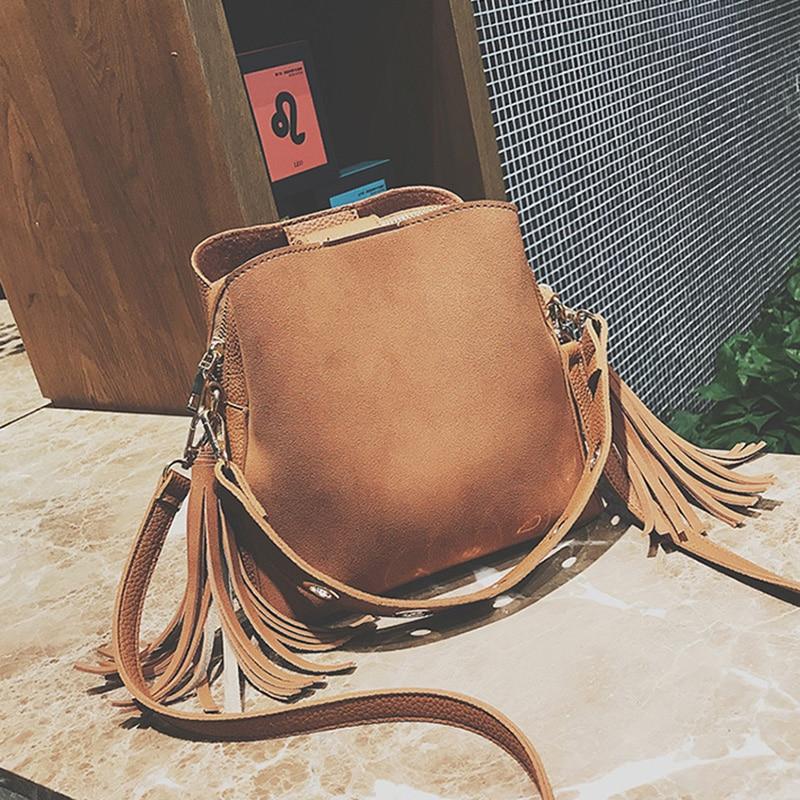 neue Fotos modernes Design Junge LEFTSIDE Damen Drei taschen Handtaschen Weibliche Vintage Retro Schulter  Umhängetasche Frauen Kleine Weiche Leder Eimer Tasche