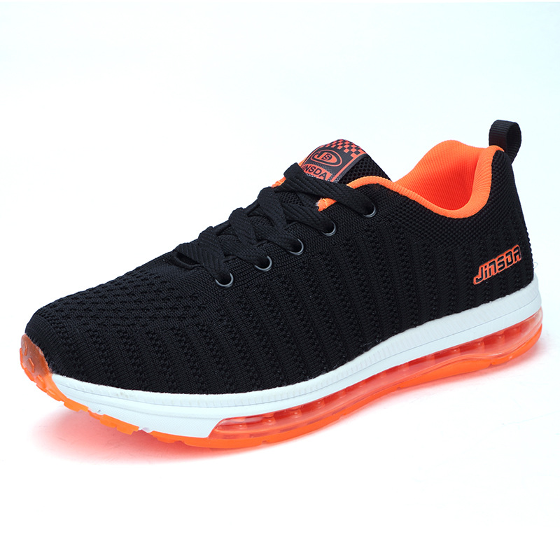 2018 spring new full palm cushion cushioning sports shoes mens flying weaving running shoes