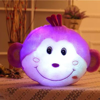 New LED Cat Plush Toy Cushion Luminous Pillow Christmas Toys Monkey Doll Colorful Light Doll Kids