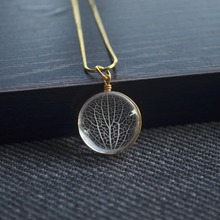 Kabbalah Tree Of Life Leaf Vein Real Flower Pendant Gold Color 925 Sterling Silver Snake Chain Necklace Women Choker Boho