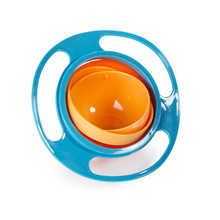 New Arrival Hot Sales New Children Kid Baby Toy Universal 360 Rotate Spill-Proof Bowl Dishes Free Shipping & Wholesales