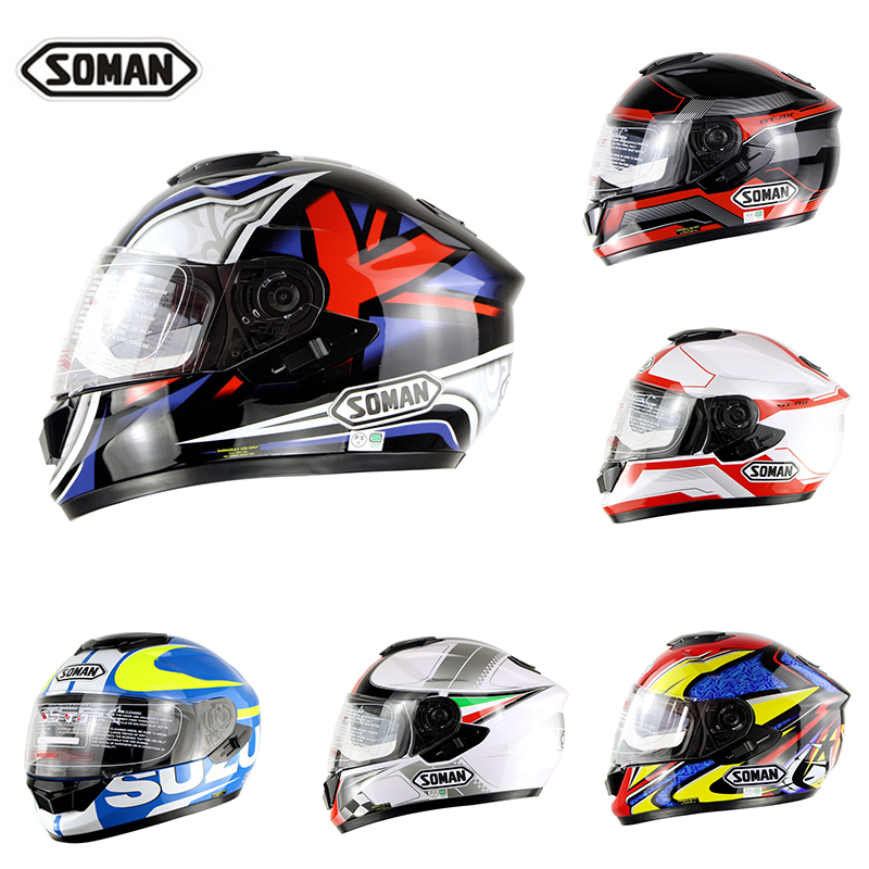 Soman Brand GT-AIR Motorcycle Full Face Helmet Racing Casque Moto Bike Protective Gear Capacete free shipping specials gsb gsb 302 gt air knights helmet motorcycle helmet full helmet capacete