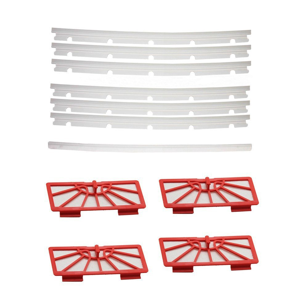 Filters + 6 compatible Blades and 1 Squeegee Replacement Vacuum Cleaner Accessory Kit For Neato xv-11 xv-12 xv-14 xv-15 xv-21 neato spiral blade brush 6 piece brush blade and 1piece squeegee replacement pack xv 11 xv 12 xv 14 xv 15 xv 21