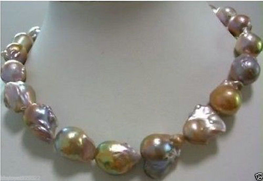 Hot sale new Style >>>>>huge Color AAA 15-25mm south sea baroque pearl necklace 18