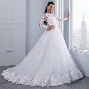 Array Sexy Sheer Lace Crystal Ball Gown Wedding Dress Casamento Sweetheart  Vintage Princess Bridal Dresses Vestido b9d65c5eb9a1