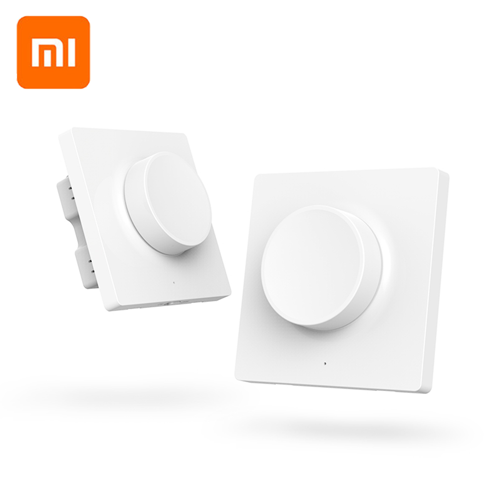 Original Xiaomi Mijia Yeelight Smart Dimmer Switch Intelligent Adjustment Off Light Still Work 5 In 1 Control Smart Switch