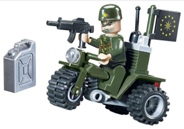 802 24pcs Military Constructor Model Kit Blocks Compatible LEGO Bricks Toys For Boys Girls Children Modeling