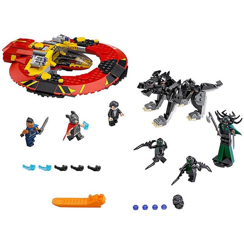 434pcs Super Heroes Thor Ragnarok The Ultimate Battle For Asgard Bela 10747 Model Building Block Toy Movie Brick Compatible ultimate comics new ultimates thor reborn