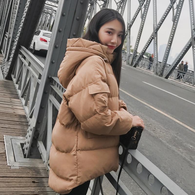 Parka Veste green Coréenne Épais Coton Yelloow Style khaki Femme D'hiver Artificielle Capuchon Fourrure À 2018 Manteau Winte Femmes De Chaud 16Sw01Uq