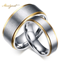 Meaeguet classic design couple engagement wedding rings for men and women titanium steel