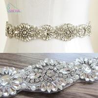 2016 Handmade Luxury Belt Wedding Sash Bridal Belt Rhinestones Wedding Sash Pearl Beaded Bride Belt Cinturon