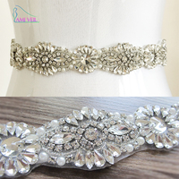 2017 Handmade Luxury belt wedding sash bridal belt Rhinestones wedding sash pearl beaded Bride belt cinturon novia madrinhaPJ102