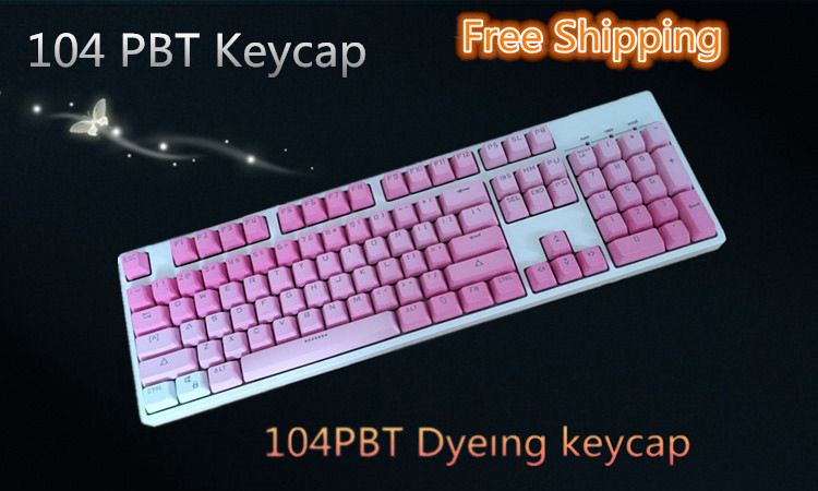 104  PBT   translucidus keycap For Cherry/Keycool/ Ducky Mechanical Keyboard 104