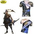 \ Line Walker \ T-shirt OW Cosplay SORA HANZO Relógio Sobre Os Homens Tee Quick-seco roupas de Compressão camisa D. Va Camiseta crossfit