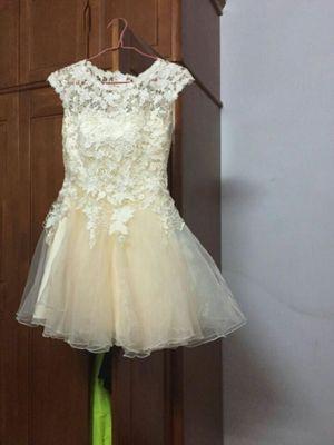 O-neck Sleeveless Floral Print Draped Lace Bridesmaid Dress