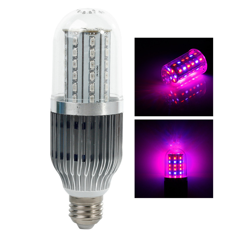 Newest Waterproof 18W28W42W54W60W Grow lights E27 Red + Blue SMD leds 85-265V LED Grow Corn Light for Plants Free Shipping