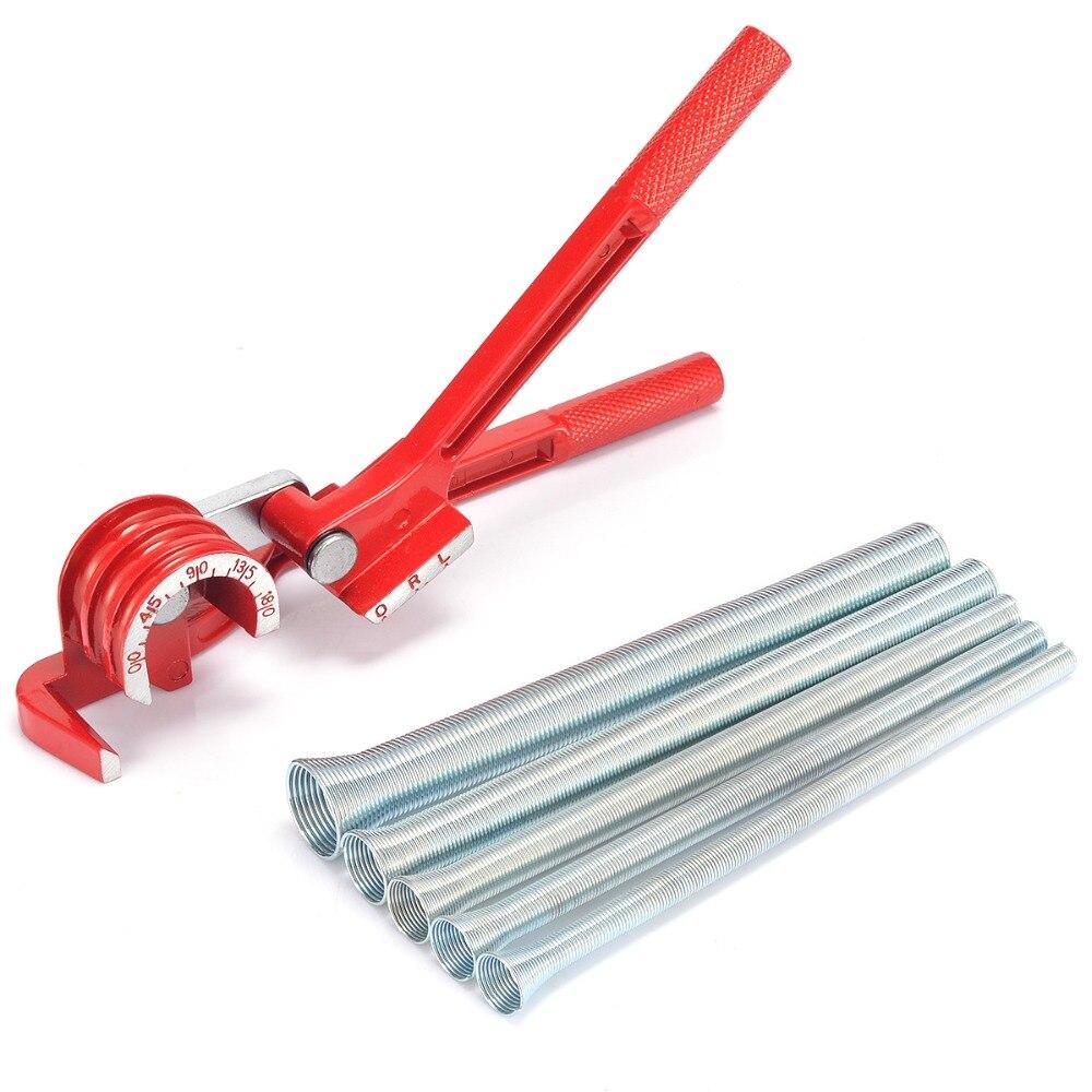 1 pc 3in1 180 Degrés Tube Cintreuse Plomberie Cuivre En Aluminium Outil De Cintrage De Tubes avec 5 pcs Printemps Flexion Tube